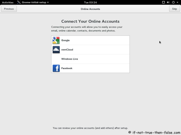 Fedora 22 Add Cloud Account
