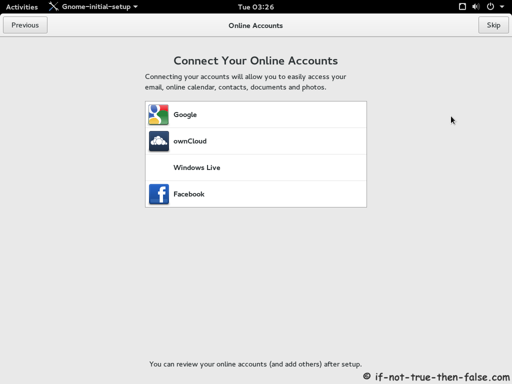 how to add account fedora 27