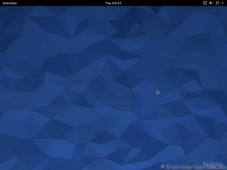 Fedora 22 Gnome Shell 3.16.2 Plain