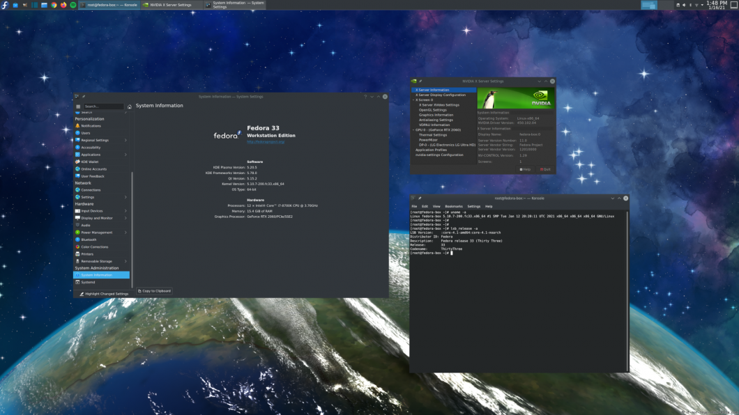 NVIDIA 450.102.04 drivers on Fedora 33 KDE with Kernel 5.10.7
