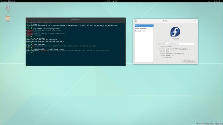 Fedora 25 nVidia 378.13 Kernel 4.9.13