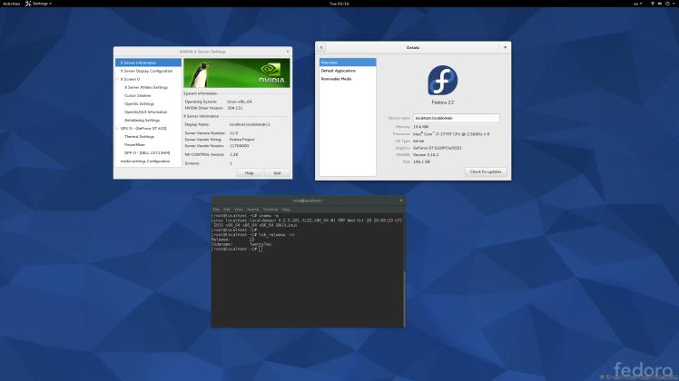 nVidia 304.131 on Fedora 22