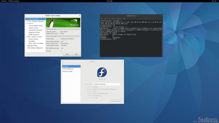 nVidia 375.66 on Fedora 25 Kernel 4.11