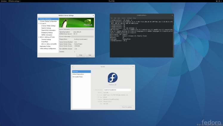 nVidia 381.22 on Fedora 25 Kernel 4.11