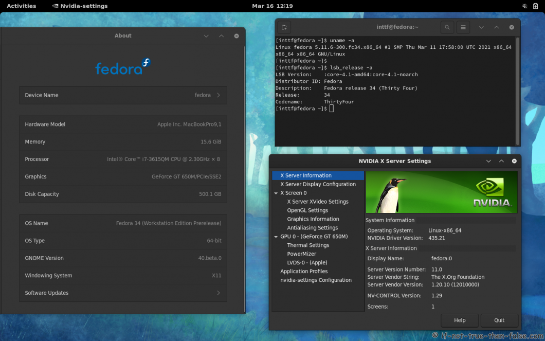 NVIDIA 435.21 drivers on Fedora 34 Gnome 40 with Kernel 5.11.6