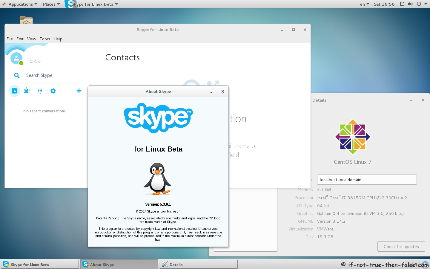 Skype Beta 5.3 Running on CentOS 7