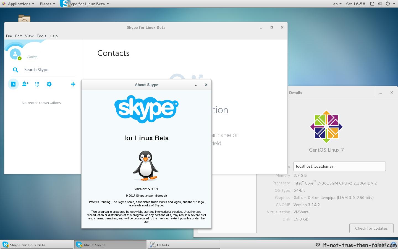 Skype Beta 5.3 Running on CentOS 7