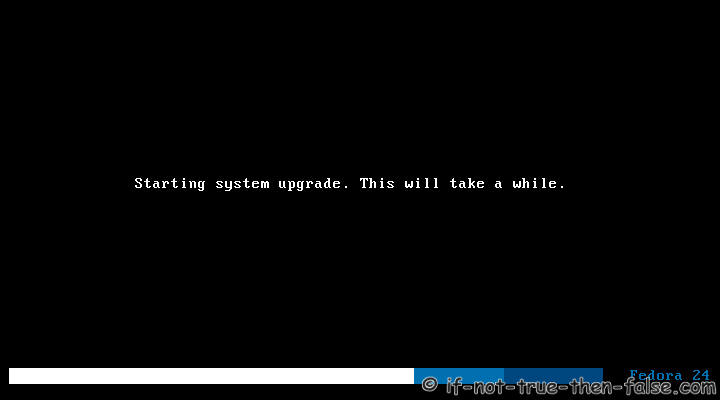 Fedora Upgrade 25 from 24 Starting