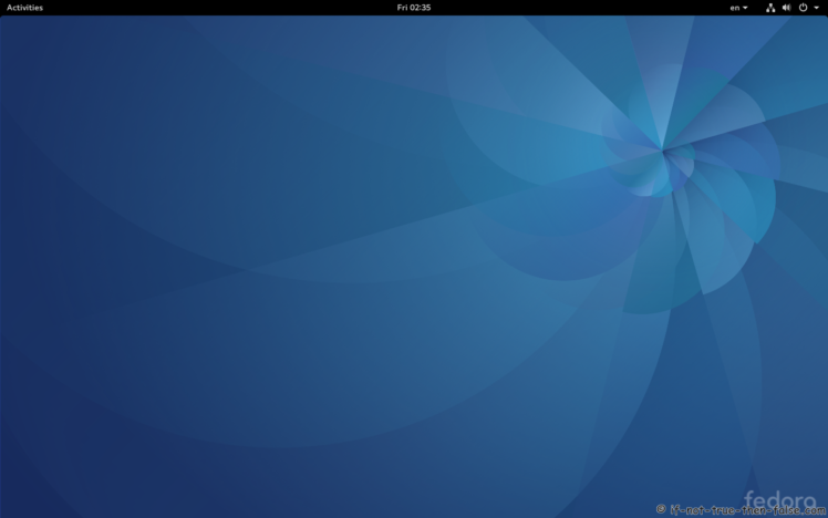 Fedora Upgrade 25 from 24 Gnome 3.22.2 Plain Desktop