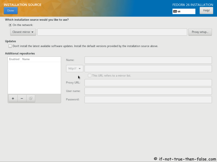 Fedora 26 Installation Source