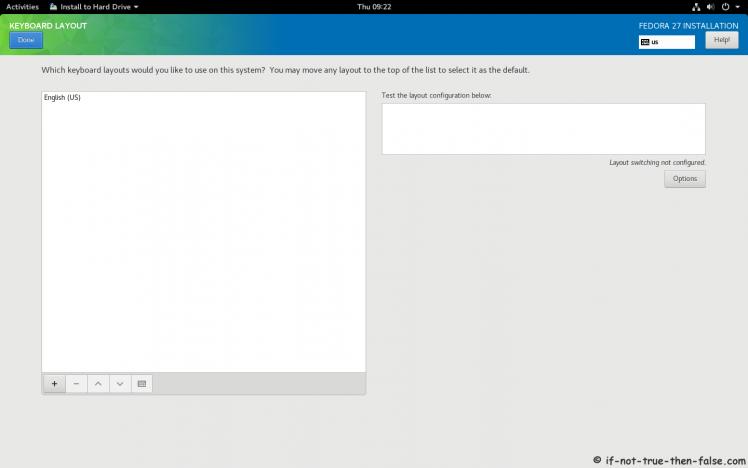 Fedora 27 Setup Keyboard Layout