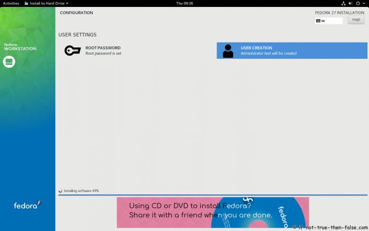Fedora 27 Installing Software