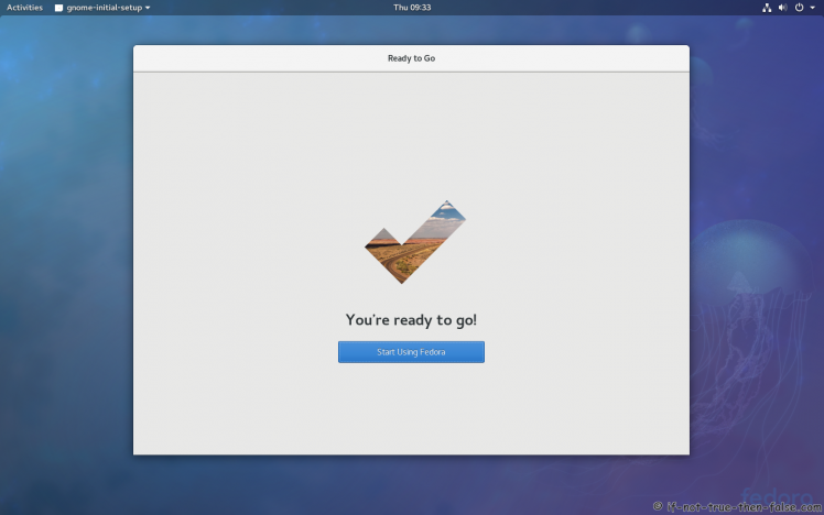 Ready to go / Start Using Gnome 3.26