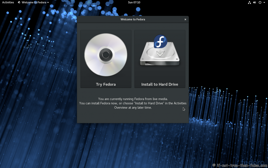Fedora 28 Install To Hard Drive