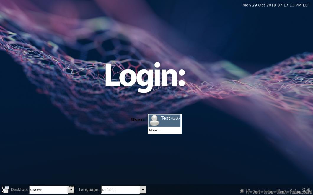 LXDM on Fedora 29