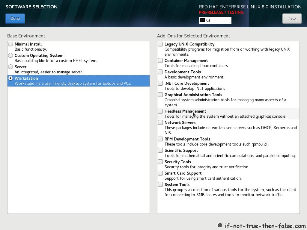 Red Hat 8 Install Guide – RHEL 8 Installation Screenshots – If Not